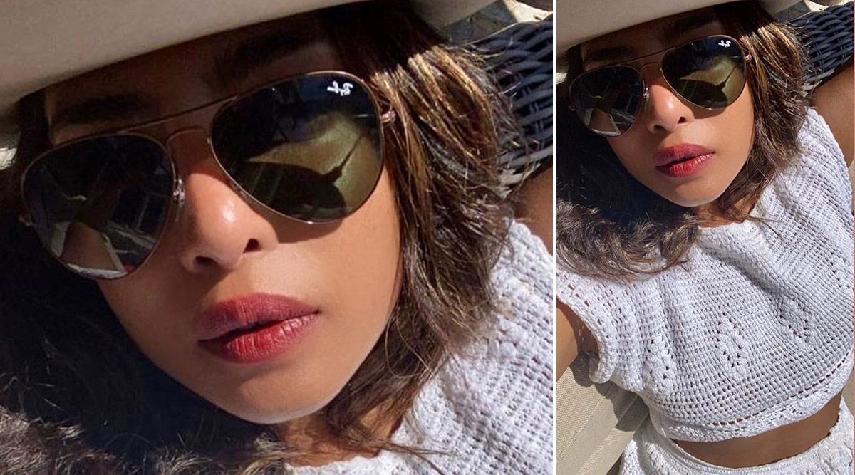 Priyanka Chopra Jonas Looks Fashionably Hot as She Poses for a Sunkissed Selfie in an All White Crochet Outfit (View Pic)