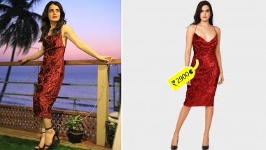 Radhika Madan Is Channeling Her Inner Parisian Dreams Amid Lockdown in a Velvet Dress Worth Rs. 2900!