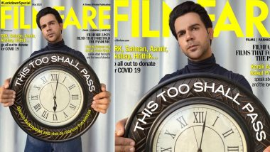 Rajkummar Rao Looks Dapper on Filmfare's First Lockdown Special Cover Shot by His Ladylove Patralekhaa (View Pic)