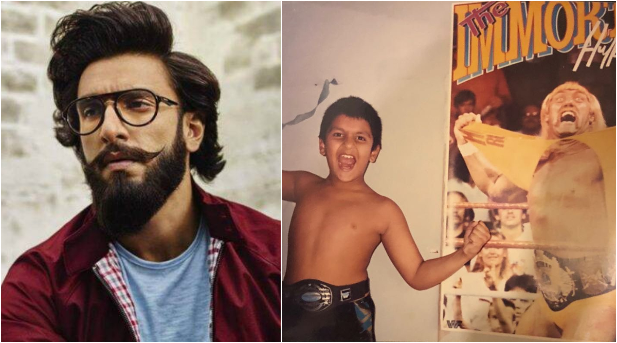Ranveer Singh Shares a Childhood Throwback From When 'WWF Was Life' As He Poses Channeling His Inner Hulk Hogan (View Pic)
