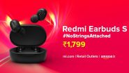Redmi Earbuds S True Wireless Earphones Goes on Sale via Amazon India, Mi.com & Mi Home Stores; Check Price & Exciting Offers