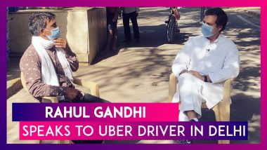 Rahul Gandhi Meets Uber Driver In A Roadside Chat; Uber Lays Off 600 Employees In India