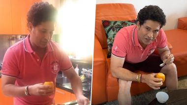 Sachin Tendulkar Makes Mango Kulfi at Home to Celebrate His 25th Wedding Anniversary (Watch Video)