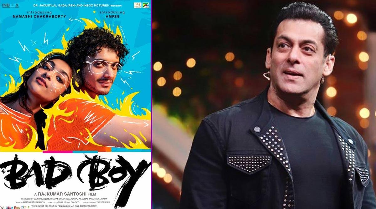 Salman Khan Unveils Debut Film Poster of Mithun Chakraborty's Son Namashi Starrer Bad Boy (View Pic)