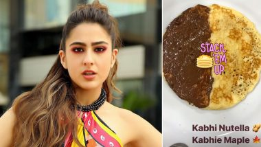 Sara Ali Khan Does a K3G on Her Pancake Stack and Karan Johar Would Surely Love the 'Sweet' Suprise (View Pic)