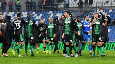 Sassuolo First Serie A Club to Resume Training Post COVID-19 Halt