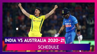 India vs Australia 2020-21 Schedule & Venue Details Of T20I, Test & ODI Series