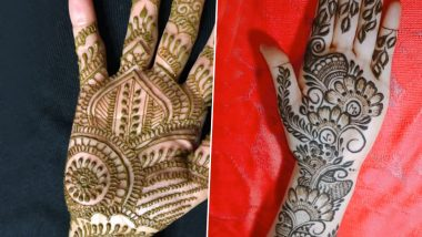 Vat Savitri Vrat 2020 Mehndi Design Images: New Arabic Henna Patterns and Latest Indian Mehandi Styles to Apply on Hands Easily at Home (Watch Videos)