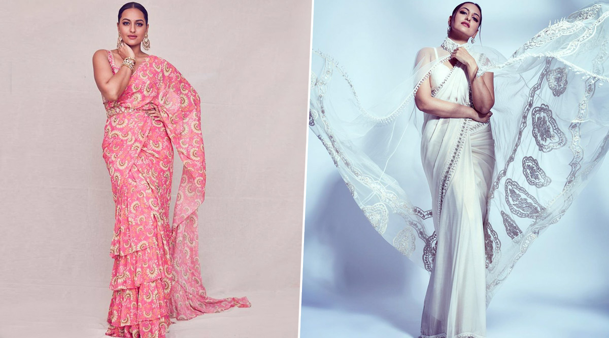 Sonakshi Sinha Drips Resplendence in These Concept Sarees, Her Stylist Mohit Rai Reminisces in These Throwback Pictures!