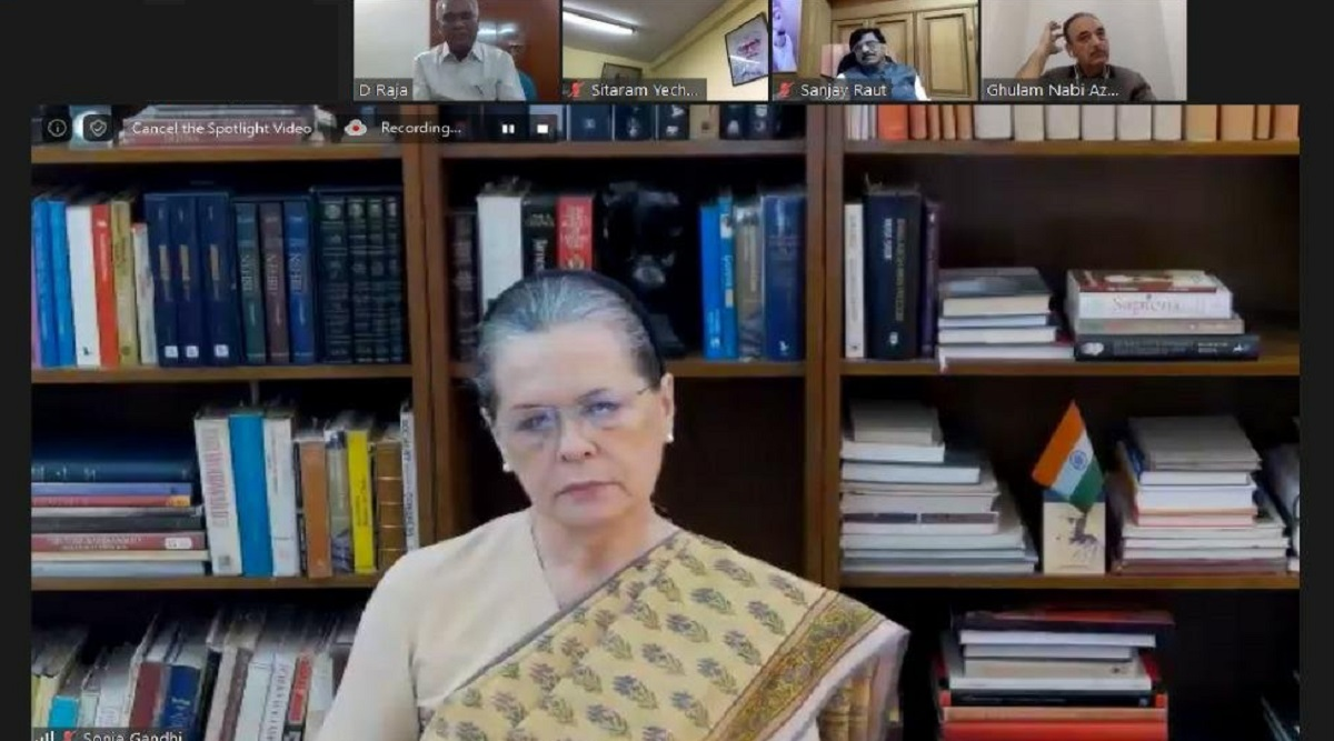 Rs 20 Lakh Crore Package a 'Cruel Joke': Sonia Gandhi Tears Into PM Modi's Economic Stimulus at Joint Opposition Meet