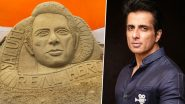 Sonu Sood Gets A Sand Art Tribute For His Magnificent Efforts For The Migrant Workers During COVID-19 Crisis (View Pic)