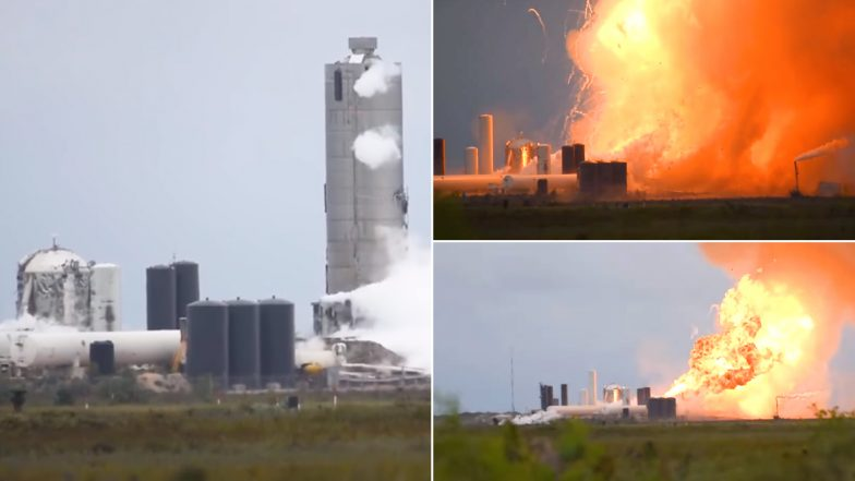SpaceX Starship SN4 Prototype Explodes Shortly After Static Fire Test at Boca Chica Site, Watch Video