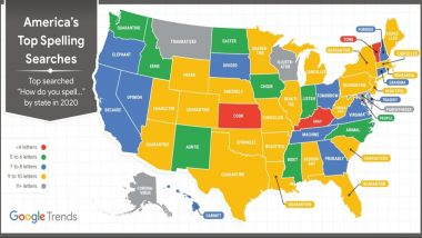 Scripps National Spelling Bee 2020 Cancelled: From 4-Letter Word 'Cook' to 11-Letter 'Coronavirus', Map Shows Most Search Spellings Across The US States