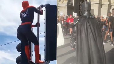 Batman and Spider-Man Spotted at Black Lives Matter Protest! Videos of Protestors Dressed in Superhero Costumes Get All The Love Online