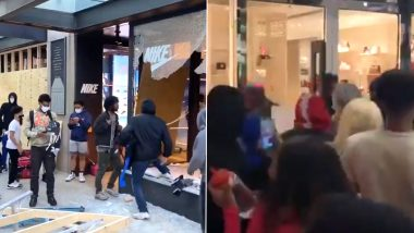 Louis Vuitton, Nike to Apple, US Protesters Loot Luxury Stores Amid Growing Tensions over George Floyd's Death (Watch Shocking Videos)