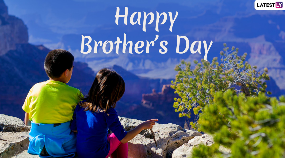 Happy Brother's Day 2020 (US) Wishes & Messages: WhatsApp Stickers, HD Images, GIFs, Facebook Greetings and SMS to Send to Your Brother