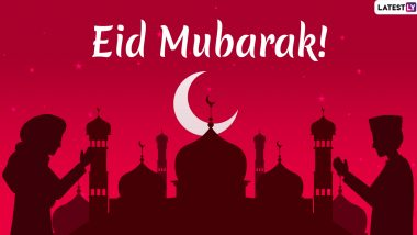 Eid Mubarak 2020 Wishes & Eid al-Fitr 1441 AH Images: Send These Greetings, Shayari, Happy Eid HD Photos, GIFs, WhatsApp Stickers and Status To Your Loved Ones