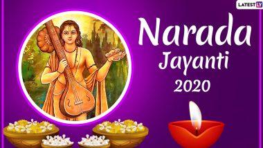 Happy Narada Jayanti 2020 Wishes: WhatsApp Stickers, HD Images & Facebook Messages to Send Greetings on Devrishi Narada Muni's Birth Anniversary