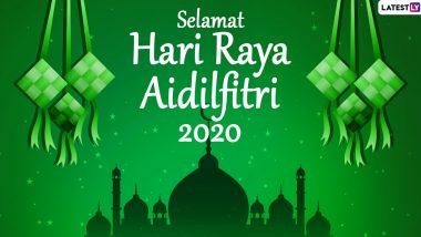 Hari Raya Aidilfitri 2020 Greetings & HD Images: WhatsApp Stickers, Selamat Hari Raya Messages, Facebook Wishes and GIFs to Keep Up the Festive Spirit!
