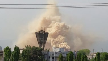 Thick Smoke Emanates from Hindustan Petroleum Corp Ltd Refinery in Vizag, HPCL PRO Says 'Situation Under Control'; Watch Video