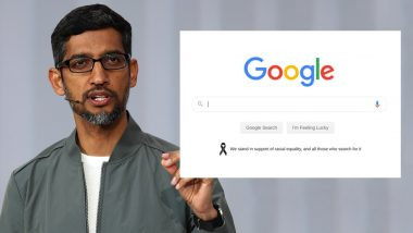 US Google And YouTube Homepages to Appear With Black Ribbon in Support of Racial Equality; Sundar Pichai Tweets Support for Black Community