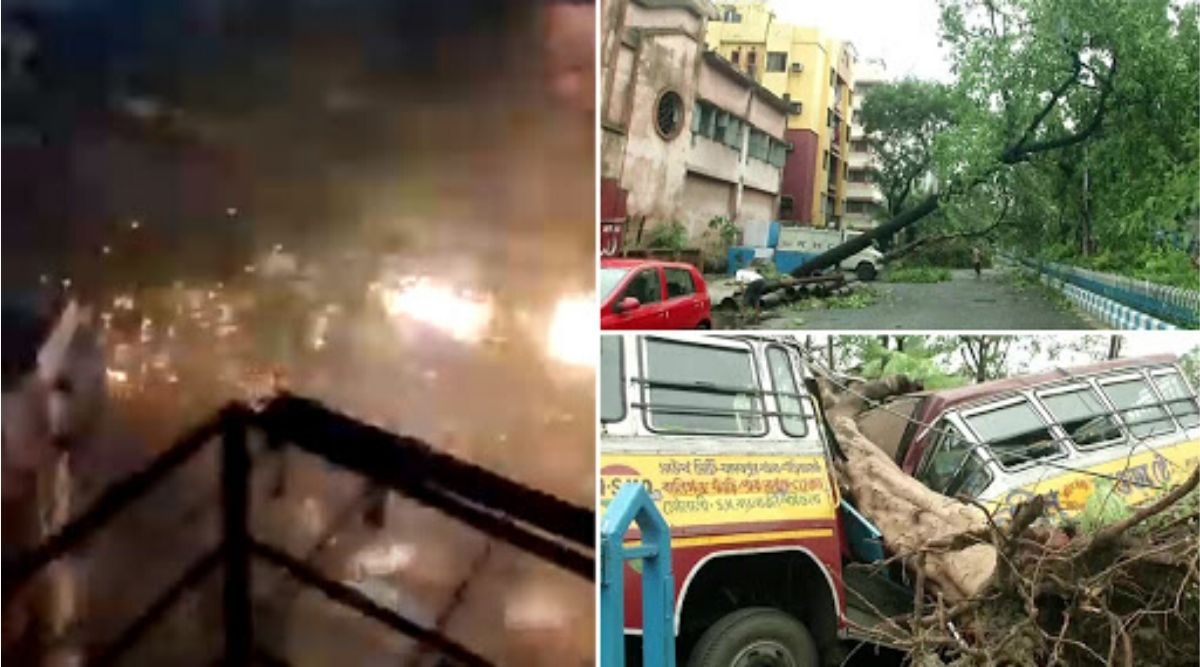 Cyclone Amphan Videos: Netizens Share Terrifying Footage And Images as Cyclonic Storm Wreaks Havoc in West Bengal