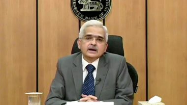 India's Real GDP Growth For FY20-21 Estimated to be Negative, Says Shaktikanta Das in RBI Monetary Policy