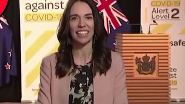 New Zealand PM Jacinda Ardern Keeps Her Cool as 5.6 Magnitude Earthquake Hits During Live TV Interview, Watch Video
