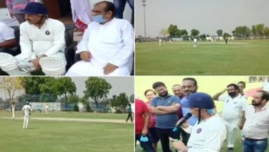 Manoj Tiwari, Delhi BJP Chief, Violates Lockdown Rules, Reaches Sonipat to Play Cricket; Check Videos And See Pics of Him Not Wearing Mask And Defying Social Distancing Norms