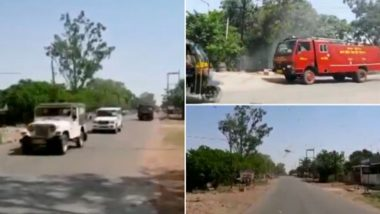 Locust Attack in MP: Panna District Administration Uses Police Sirens to Scare Away Tiddi Dal, Watch Video