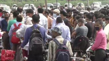 Delhi-Gurugram Border Sees Huge Gathering of People A Day After Haryana Completely Seals Its Border With National Capital, View Pics