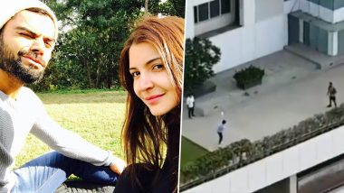 Virat Kohli, Anushka Sharma Play Gully Cricket on Rooftop at Mumbai Residence Amid Lockdown (Watch Video)