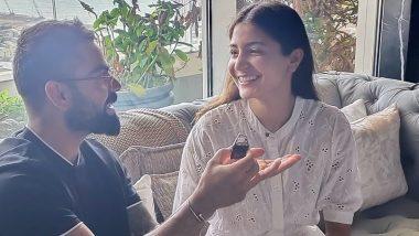 Virat Kohli Says 'I Love You' To Anushka Sharma on Her 32nd Birthday, Feeds Cake In This Adorable Photo! Here's Kohli's Birthday Wish For Wifey