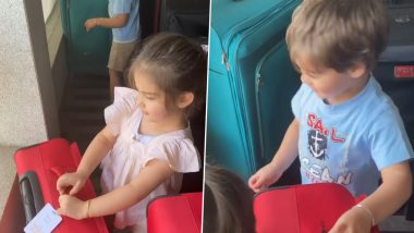 Karan Johar's Kids Yash and Roohi Have Got a Foolproof Plan to 'Bag' Themselves Up and Escape the Lockdown (Watch Video)