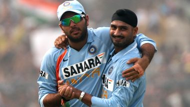 Harbhajan Singh Pokes Fun at Yuvraj Singh As Former KXIP All-Rounder Compares His Childhood with Present Self