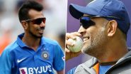 'Bhabhi Where's Mahi Bhai': Yuzvendra Chahal Showers His Love on MS Dhoni During Sakshi Rawat's Live Instagram Session