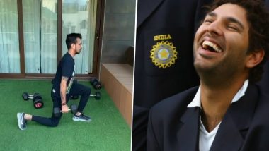 'Oh Bale Oh Tere Chuhey': Yuvraj Singh Hilariously Trolls Yuzvendra Chahal Over the Leg-Spinner's Workout Video