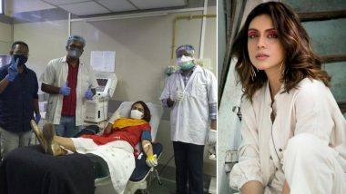 Zoa Morani Donates Blood in Mumbai for Plasma Therapy, Requests All COVID-19 Survivors to Come Forward and Help Those Affected By Coronavirus (View Pics)