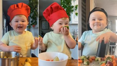 Little Chef Kobe Is Spreading Joy Worldwide, Thanks to His Insanely Cute Culinary Skills! Watch Videos of the One-Year-Old Boy Giving Netizens Daily Dose of Cuteness