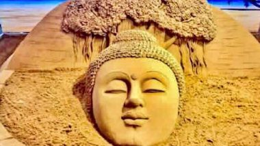 Buddha Purnima 2020: Sudarsan Pattnaik Shares Throwback Photo of Lord Buddha Sand Art to Celebrate the Buddhist Festival of Vesak Day