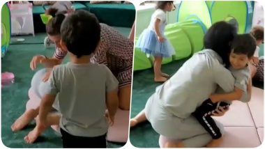 Cristiano Ronaldo's Daughter Eva Yells at Father, Runs to Defend Her Mother as CR7 Playfully Whacks Georgina Rodriguez (Watch video)