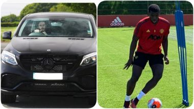 David de Gea Flaunts Unshaven Look As he Returns to Old Trafford, Fit Again Paul Pogba Trains With Team Manchester United (See Pics)