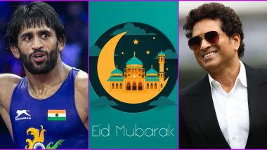 Eid Mubarak Wishes: Sachin Tendulkar, Bajrang Punia, Gautam Gambhir and Other Sports Personalities Greet People on the Occasion of Eid ul Fitr