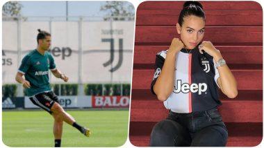 Cristiano Ronaldo's Trick Shot During Juventus Training Session Amuses Girlfriend Georgina Rodriguez (Watch Video)