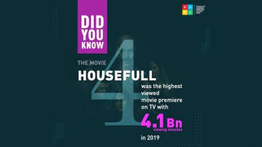 Akshay Kumar's Housefull 4 Becomes The Most Watched Premiere On Television In 2019
