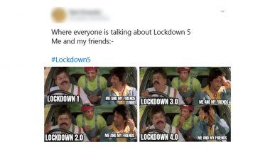#Lockdown5 Funny Memes and Jokes Trend on Social Media, Netizens Use Humour As Shield to Combat Lockdown Extension Fear