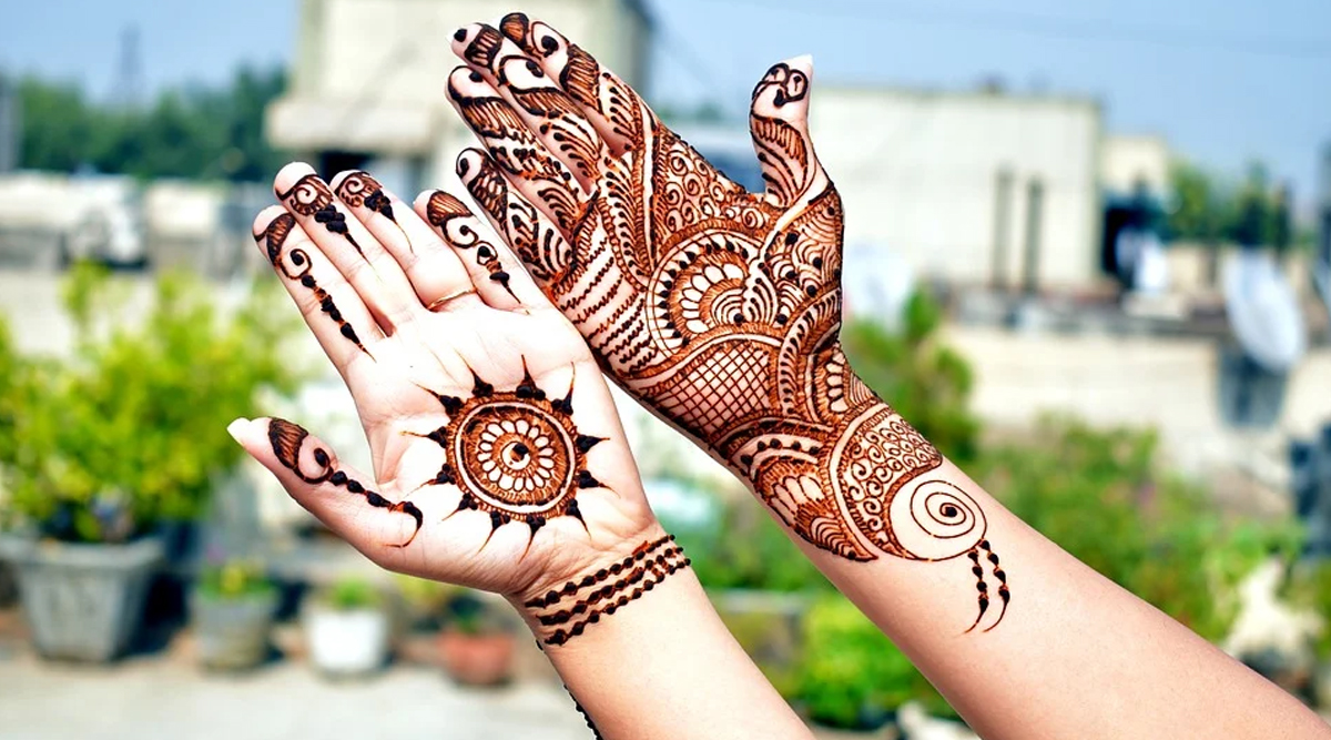 New 5-Minute Mehndi Designs For Eid al-Fitr 2020: Latest Indian Henna Patterns and Arabic Mehandi Design Ideas to Apply on Hands at Home (Watch Videos)