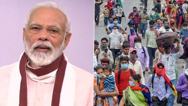 Congress Slams PM Narendra Modi For 'Failure' to Mitigate Migrant Workers' Crisis, Says His Address Only Gives Media 'A Headline'