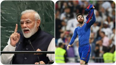 La Liga Brings Out the Best Version of PM Narendra Modi's Emphasis on Atmanirbharta, Posts a Picture of Lionel Messi Holding His Jersey After a Goal