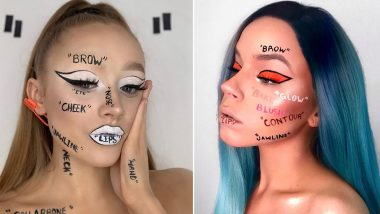 #OffMe is the Latest Beauty Challenge on Instagram That Sees Makeup Lovers Use Text To Highlight Their Face In The Most Amazing Way! (View Pics)